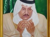 لوحة ( دعاء ) لولي العهد بإبداع الفنان التشكيلي أحمد المغلوث