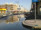 """""""بالصور"""".. مياه تحتل طريق النجاح التجاري بالمبرز"""