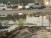 """تذمر واسع من قبل مرتادي طريق """"القرى الشرقية"""" بسبب تسرب مياه المجاري"""