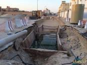"""بالصور… أهالي """"العزيزية"""" في ذهول: شبكة السيول قبل الصرف الصحي تناقض"""