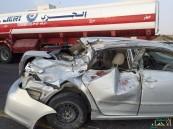 """بالصور.. """"هلال"""" الشرقية: حادث مروع يودي بحياة شخص ويصيب اثنين"""
