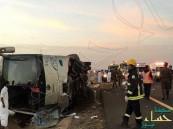 """مصرع و إصابة ٤١ معتمراً إثر انقلاب حافلة على طريق """"مكة / المدينة"""""""