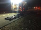 """بالصور… في #الأحساء تصادم بين دراجة نارية وسيارة والنتيجة """"وفاتين"""""""