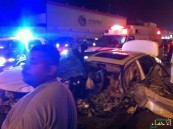 """بالصور… في #الأحساء حادث مروع والنتيجة وفاة وإصابة """"خطرة"""""""