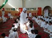 ابتدائية هشام بن عمار تستقبل طلابها بالحلوى والمرطبات