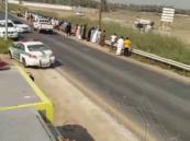 بالصور… حادث مأساوي يُحيل قائد دراجة نارية  إلى أشلاء غارقة في #الأحساء