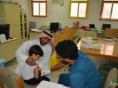 بالصور.. حملة للتطعيم ضد الإنفلونزا في ابتدائية البطالية