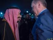 صور استقبال خادم الحرمين الرئيس التركي لدى وصوله إلى الرياض