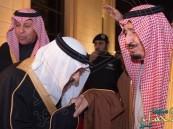 بالصور.. خادم الحرمين يشرّف حفل زواج نجلي الأمير أحمد