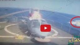 """شاهد.. """"البحرية الأمريكية"""": الفرقاطة """"المدينة"""" استهدفت بقارب موجه يُعتقد أنه إيراني"""