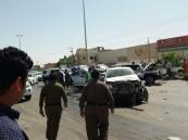 تعرض عدد من المركبات المرافقة لأمير الرياض أثناء زيارته لوادى الدواسر لحادث سير