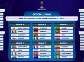"""نتائج قرعة """"مونديال الشباب"""".. الأخضر يبدأ مشواره ضد السنغال في 22 مايو"""
