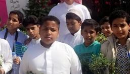 """ابتدائية """"الإمام أحمد بن حنبل"""" في زيارة لـ""""معرض الزهور"""" بمنتزه الملك عبدالله"""