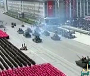 شاهد.. دبابة تحترق في حضرة دكتاتور كوريا الشمالية!!