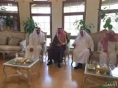 """بالصور.. سمو """"محافظ الأحساء"""" يعزي """"عبدالمحسن الجبر"""" في وفاة حرمه"""