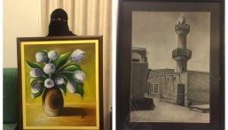 """بالصور.. """"البوبشيت"""" بدأت تجربتها في عمر الـ 40 وواصلت إبداعها في """"الفن التشكيلي"""""""