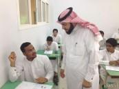 """المساعد للشؤون المدرسية يتفقد سير الاختبارات بثانوية """"عمير بن وهب"""""""