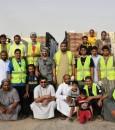"""بالصور … """"خيرية العيون"""" توزيع 600 سلة رمضانية على الأسر المستفيدة"""