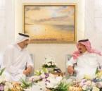 """الشيخ """"عبدالله آل ثاني"""" يكشف تفاصيل لقائه بالملك سلمان ويخصص رقمًا لخدمة الشعب القطري"""