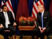 """ترامب يحرج أمير قطر ويواجهه بـ""""أدلة الإرهاب"""""""
