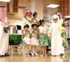 """شاهد بالصور… """"مطار الأحساء"""" يقدم عدد من البرامج الترحيبية ابتهاجاً باليوم الوطني"""