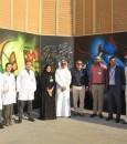 """في 33 صورة .. """"مستشفى الموسى"""" يدشن #جدارية_في_حب_الوطن بطول 200 متر"""