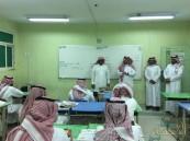 بالصور… (العيسى والكنعان) بتعليم الأحساء يتفقدان ثانوية الملك عبدالله الليلية