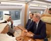 وزير النقل يستقل قطار الحرمين في أول رحلة كاملة من المدينة المنورة إلى مكة المكرمة