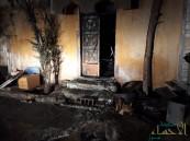 بالصور..إصابة فتاة بحريق في العيون ومناشدات بإعادة إعمار المنزل