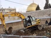 سلطات الاحتلال الإسرائيلي تواصل حفرياتها فى جنوب المسجد الأقصى