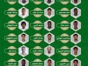 إدارة المنتخب السعودي تعلن عن قائمة المنتخب الوطني الأول استعداداً للمرحلة الأولى لكأس العالم