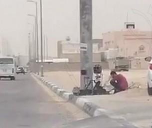 """فيديو … بالتفاصيل مرور #الأحساء يستعين بكاميرا """"العنكبوت"""".!!"""
