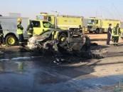 مصرع 5 أشخاص من عائلة واحدة بحادث مأساوي غرب عرعر