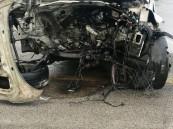 بالفيديو والصور.. في حادث مأساوي وفاة عشريني وإصابة شخصين بالأحساء !!