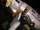 """بالصور.. """"الخطوط السعودية"""" تكشف وضع 151 راكبا هبطت طائرتهم بمطار جدةً """"بلا عجلات""""!!"""