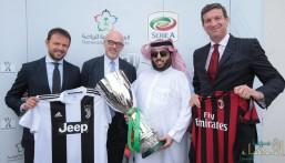 رسميًا .. آل الشيخ يوقع عقد استضافة كأس السوبر الإيطالي