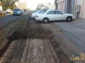 إعادة سفلتة شوارع حي الفيصل بطريقة ''كيفما أتفق '' توقع تلفيات