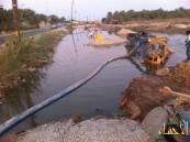 بالصور… التخبطات تهدي القرى نهر من نوع آخر…!!!ا
