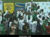 """أخضر الإحتياجات الخاصة"""" بطل كأس العالم 2010 م لكرة القدم"""