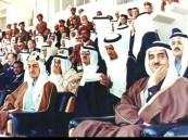 الملك فيصل والملك فهد رحمهما الله في إحدى المناسبات الرياضية