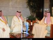 الأمير سلمان يستقبل نادي الهلال أبطال دوري زين 2010 م
