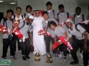 الجمهور يستقبل بعثة منتخب الشباب السعودي بالورد بعد تحقيق بطولة الخليج