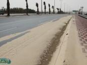 بأمر الكثبان الرملية : طريق الرياض – المطار يتحول الى مسارين .
