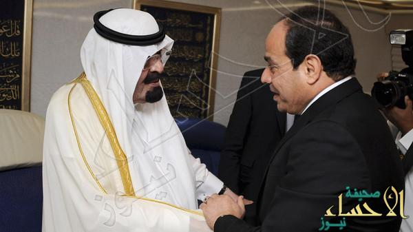 Saudi Arabia's King Abdullah meets Egypt's new president Abdel Fattah al-Sisi during his visit to Cairo