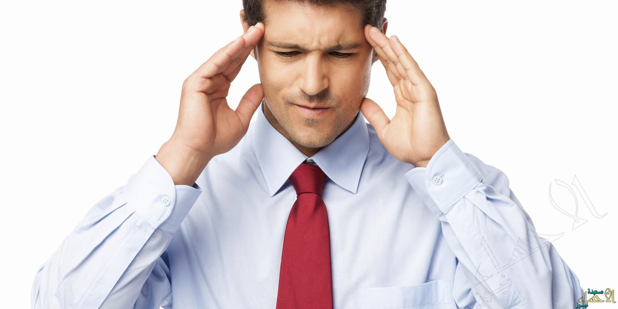 Male Executive With Severe Headache - Isolated
