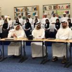 محمد-بن-راشد-يترأس-اجتماع-مجلس-الوزراء-في-مدرسة-بحضور-بعض-الطلاب1