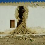 تلفيات وانهيارات قصر ابراهيم الآثري (1)