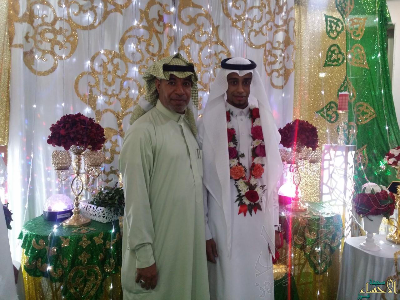 العريس مع أحد أعمامه