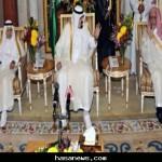 الملك عبدالله يستقبل الهنئين بعيد الأضحى المبارك 1432 هـ