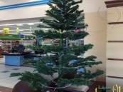 """شجرة الكريسمس في مركز تجاري """"بالهفوف"""""""